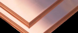 Технические свойства и характеристики медного листа
